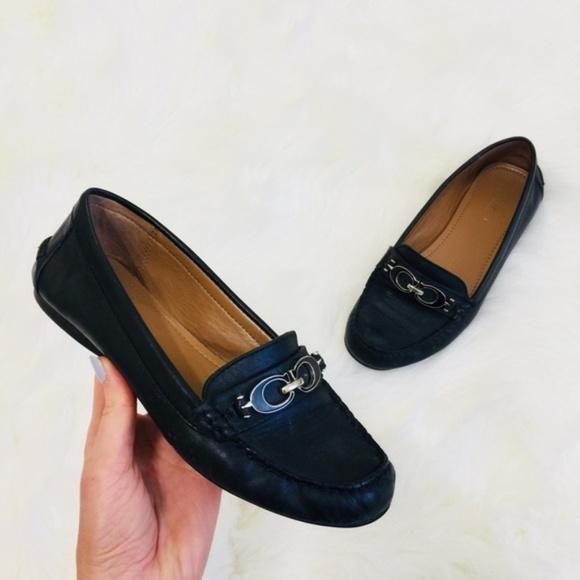 180ec3660bb Coach Shoes - COACH Black Fortunata Flat Loafers